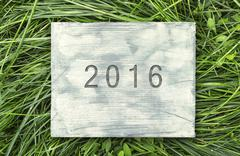 Stock Photo of 2016 sign