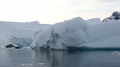 Large Iceberg - stock footage