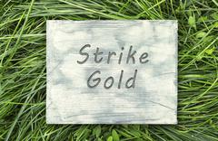 Strike gold sign - stock photo