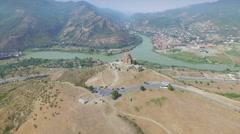 Jvary monastery near Mtskheta Stock Footage