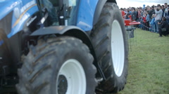 A brand new tractor Stock Footage