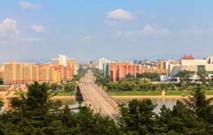 Rungna Bridge, Pyongyang Stock Photos