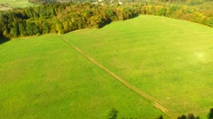 Aerial Overflight of a meadow Stock Footage