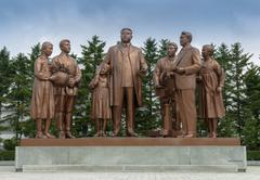 The monument at Pyongyang film studios - stock photo