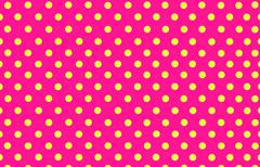 yellow polka dot with pink background - stock illustration