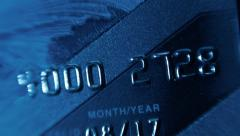 Stock Video Footage of Plastic credit cards to withdraw money from a bank account