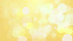 4k Clean Yellow Smooth Bokeh Animation Background Seamless Loop. - stock footage