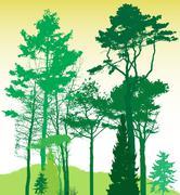 Image of Nature. Tree Silhouette. Vector Illustration - stock illustration