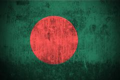 Grunge Flag Of Bangladesh - stock illustration