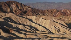 Drought in California, Zabriskie Point beautiful view Stock Footage
