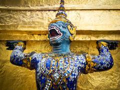 Demon Guardian at the Grand Palace in Bangkok, Thailand - stock photo