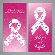 Breast Cancer Awareness month - stock illustration