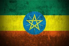 Grunge Flag Of Ethiopia Stock Illustration