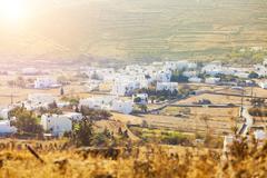 Small village in Tinos Island, Greece. - stock photo