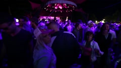 Purple colours at a disco - stock footage