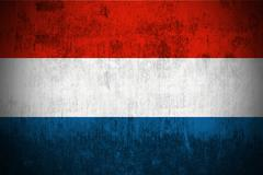 Grunge Flag Of Luxembourg - stock illustration