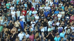 Supporters of Greek soccer club PAOK Stock Footage