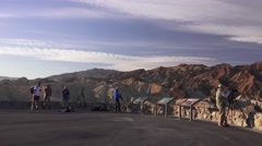 Zabriskie Point, photographer hang out Stock Footage