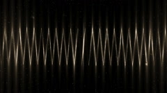 Audio gold equalizer. Stock Footage