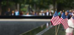 Memorial at World Trade Center Ground Zero Stock Photos