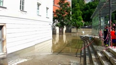 The flood of the century in Passau, Germany Stock Footage