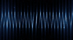 Audio blue equalizer. Stock Footage