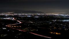 San Fernando Valley Day to Night Time Lapse near Los Angeles California Stock Footage