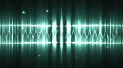 Audio neon equalizer. Stock Footage