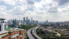 Time lapse 4k footage of road lead to Kuala Lumpur city center. Stock Footage