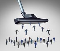 Employee Management Concept - stock illustration