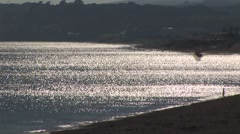 Bay at Penzance - back zoom Stock Footage