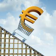Euro Currency Decline Stock Illustration