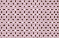 polka dot with purple pastel color background - stock photo
