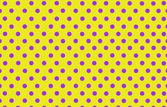 violet polka dot with yellow background - stock illustration