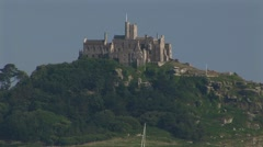 St Michaels Mount Close Up Stock Footage