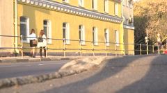 The old yellow house. Stock Footage