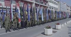 Knin Storm parade Stock Footage