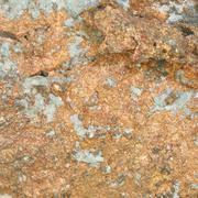 close up copper mineral in stone - stock photo