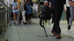 Pedestrian in hurry at Shinagawa Station Stock Footage