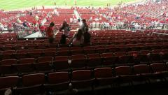 Time lapse of stadium emptying Stock Footage