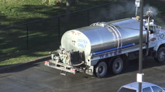 Water Truck Cleaning Urban Streets Stock Footage