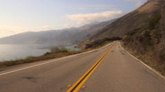 POV drive along the Cabrillo Hwy on the California coast.  Stock Footage