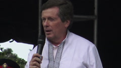Mayor of Toronto, John Tory at the Ukrainian Festival 2015 Stock Footage