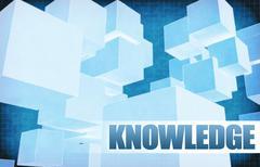 Knowledge on Futuristic Abstract - stock illustration