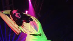 Go Go Dancer in a dress like Kylie Minogue Stock Footage