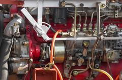 Diesel engine part of power plant - stock photo