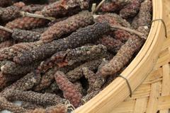 close up seasoning in basket, Thailand - stock photo