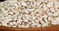 clsoe up white bean background - stock photo