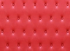 Luxurious red leather  seat upholstery - stock photo