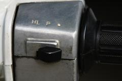 close up light switch of motorcycle - stock photo